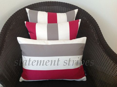 Classic stripes, bold and brilliant. Choose from navy blue, grey and white or this beautiful red version. If you can't decide, why not try one of each? http://www.homesteadrange.co.nz