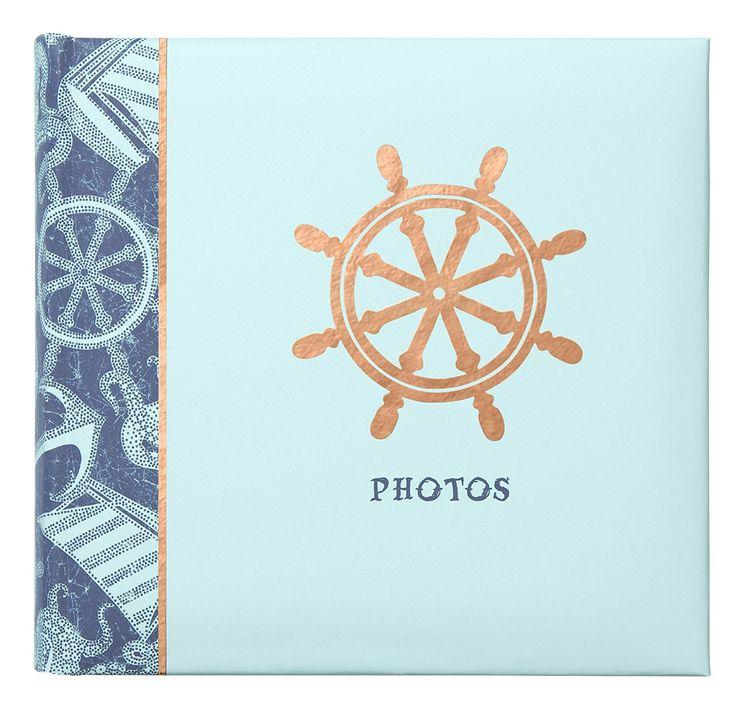 C.R. Gibson P10-16876 - Anchor Slim Compact Journal Album, Ocean's Depth