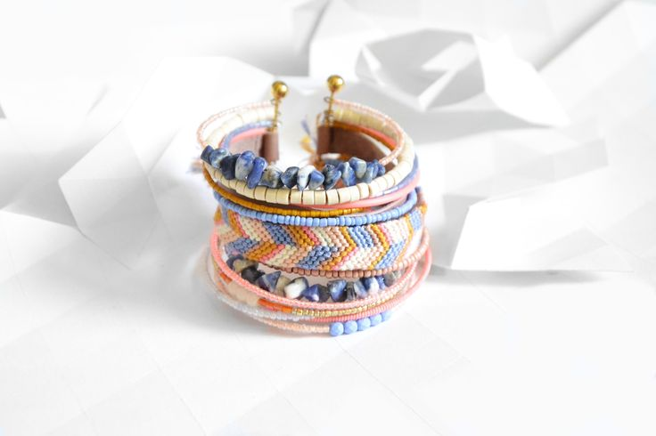 "Bracelet ""Ribambelle"" tons pastels : Bracelet par knock-on-wood"