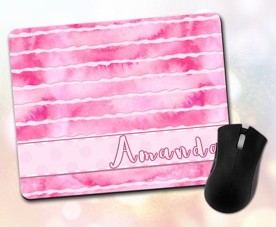 Custom Mouse Pad  Personalized Custom Font and Name Custom
