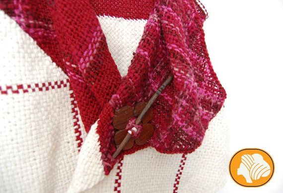 Fuchsia and white flecked woolen wrap vest by Ullvuna on Etsy