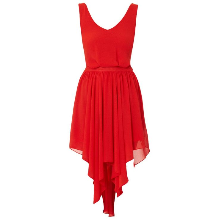 Flame Ribbon Tie Dress - features a dipped, asymmetrical hem. Another fantastic dress for dancing!