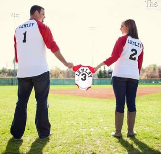 But soccer or football... Baseball Pregnancy Announcement