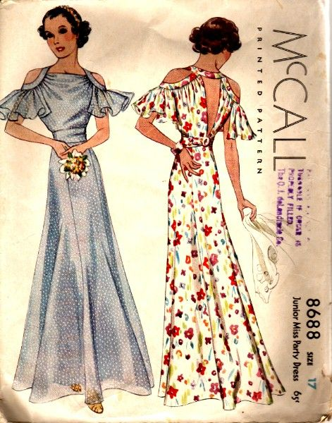 1930s fabulousness shorten this and it would be a great sundress makes a good maxi as it is