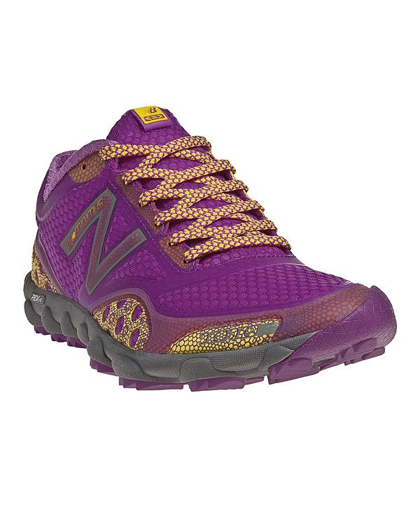 Take a look at this Purple & Yellow Minimus 1010 All-Terrain Running Shoe - Women on zulily today!