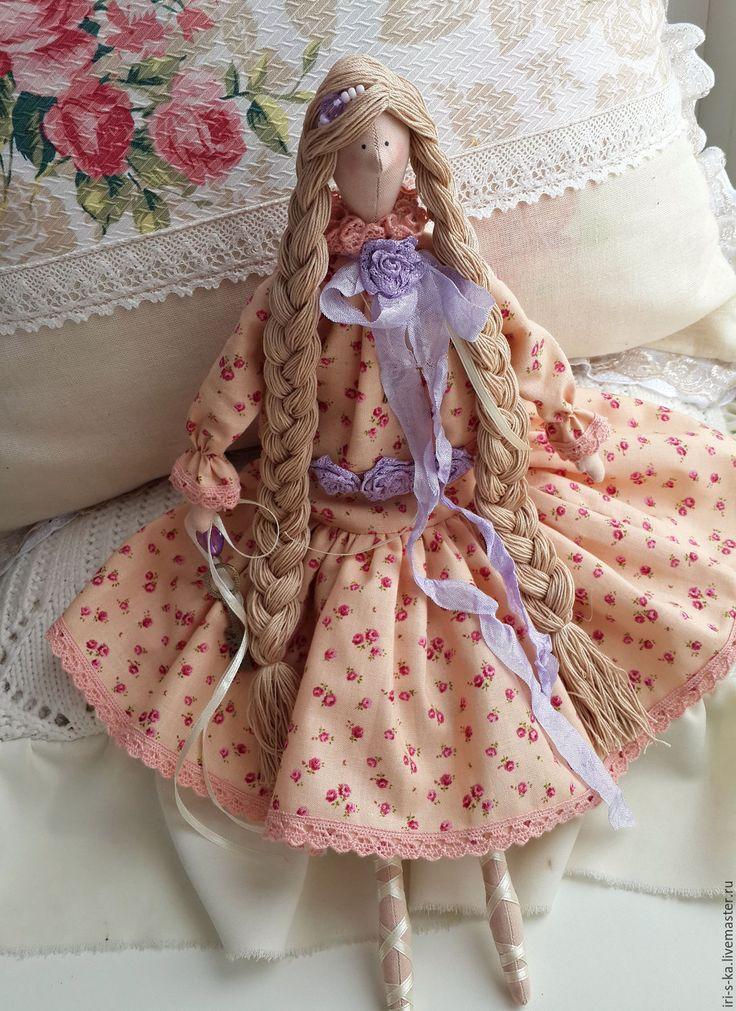 Кукла Тильда - коралловый, тильда, тильда кукла, кукла интерьерная, кукла из ткани