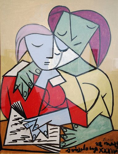 Two Girls Reading, PicassoPablo Picasso Cubism, Girls Reading, Increase Squiggly, Abstract Expressionism, Art Picasso, Girl Reading, Carlo Catass, Favourite Picasso, Michigan Museums