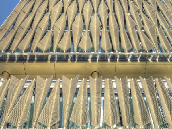 The Sun Shading System Of Q1 Thyssenkrupp In Essen Helped