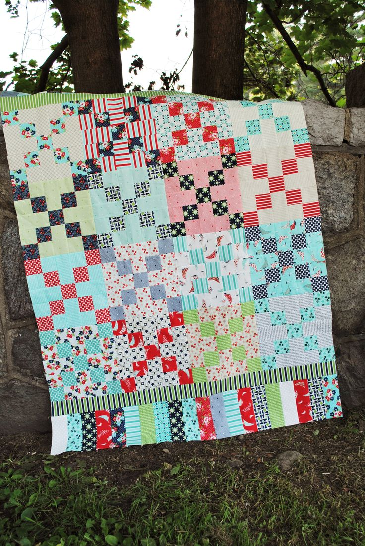 Make this entire quilt top with just one Jelly Roll bundle! Blogged here: http://sweetjanesquilting.blogspot.com/
