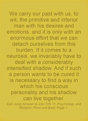 We carry our past with us, to wit, the primitive and inferior man with his desires and emotions, and it is only with an enormous effort that...