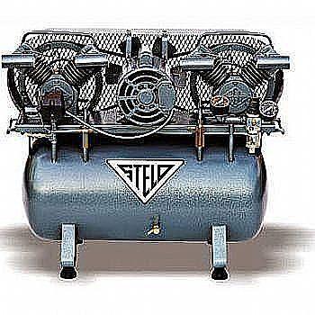 """Compressores odontológicos DCL-Stelo  MODELO 246  2 CONSULTÓRIOS  A DCL Mantém a tradição de oferecer o melhor equipamento para seus clientes e agora, junto ao compressor Slelo, podem levar para o consultório ainda mais """"silencio""""...  DCL+Stelo com novo gabinete em aço com 50mm de espuma acústica, que reduz em 5 decibéis (db) o ruido do compressor que sem o gabinete produz, apenas 68 db."""