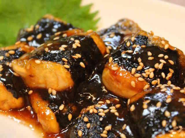 節約満足おかず*海苔巻き豆腐の甘辛焼きの画像