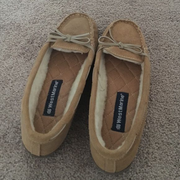 West Marine Moccasins size 9 Never been worn. West Marine moccasins on size 9. Tan in color. West marine Shoes Moccasins