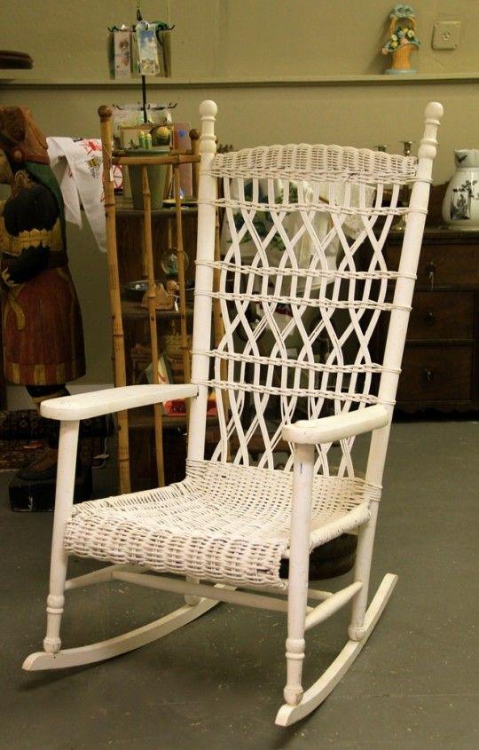 Antique Wicker Porch Rocker Rocking Chair Pinterest