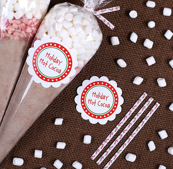 Hot Cocoa Cone Kit: Cellophane Cone Bags by thebakersconfections