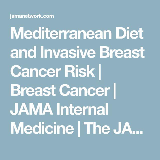 Mediterranean Diet and Invasive Breast Cancer Risk | Breast Cancer | JAMA Internal Medicine | The JAMA Network