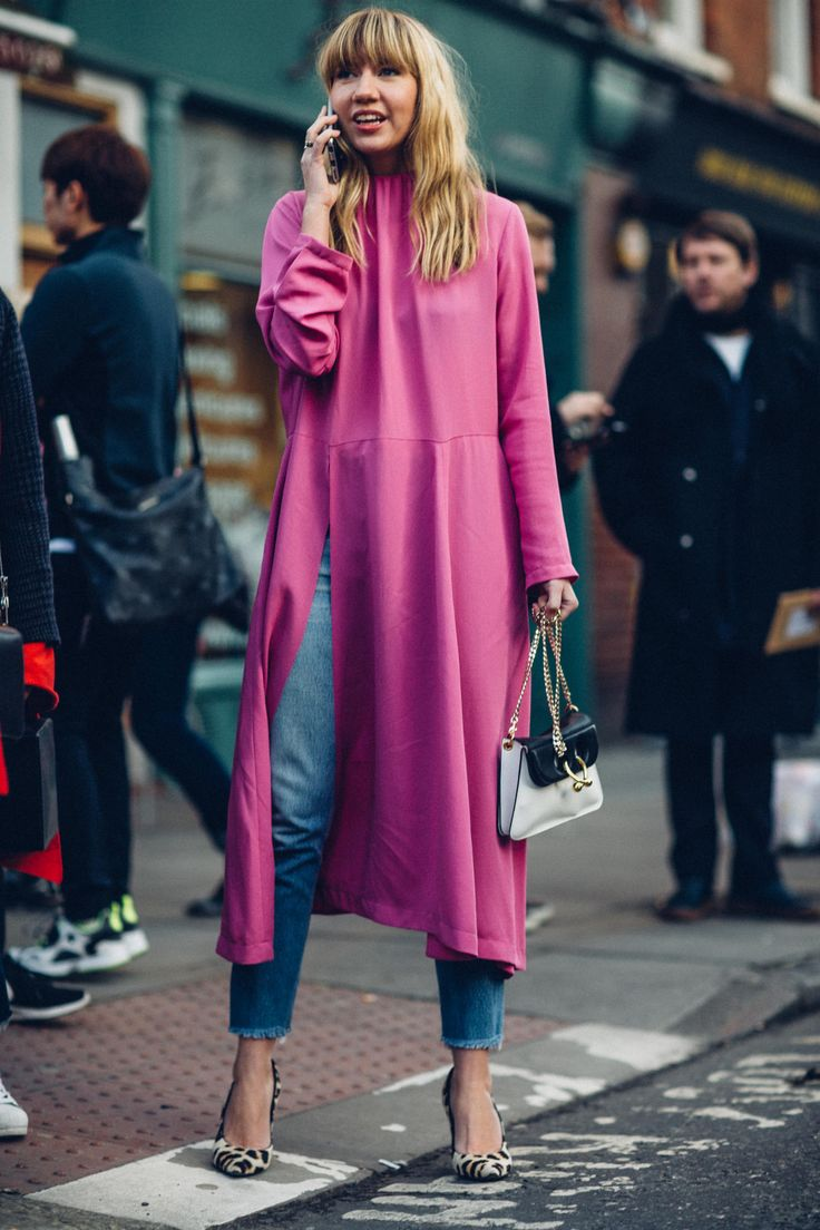 London Fashion Week Showgoers Will Inspire You to Layer a Dress Over Anything - Fashionista