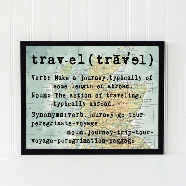 vintage map art print typography atlas quote home decor travel bookpage motivational dictionary
