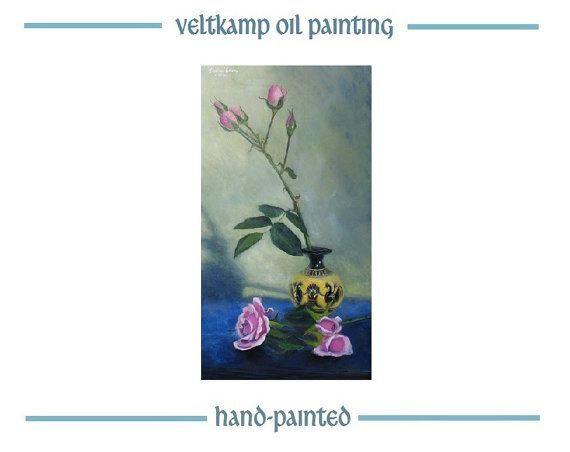 no shipping costs  flower still life oil by VeltkampOilPainting