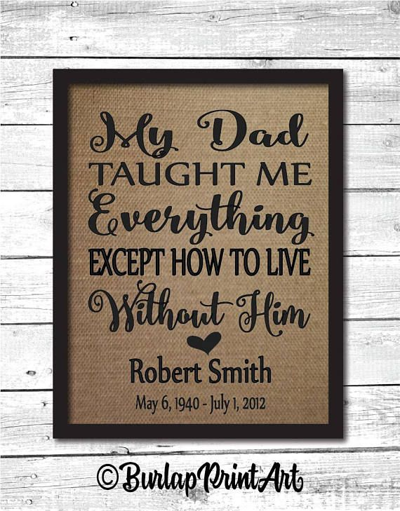 Dad Memorial Dad Memorial Gift Dad Memory In Memory Of