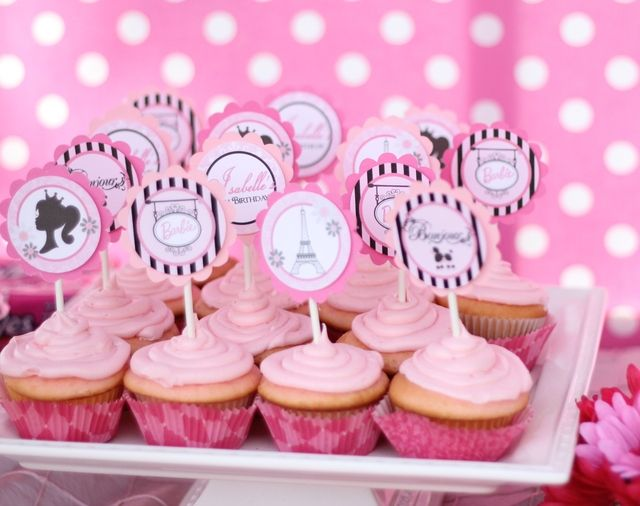 "Barbie doll theme birthday party     kids party ideas    party pins by Frosted Events www.frostedevents.comPhoto 5 of 19: Barbie in Paris / Birthday "" Isabelles 8 th birthday party Barbie in Paris "" 