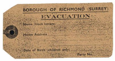 evacuee luggage label world war 2 project pinterest With evacuation label template