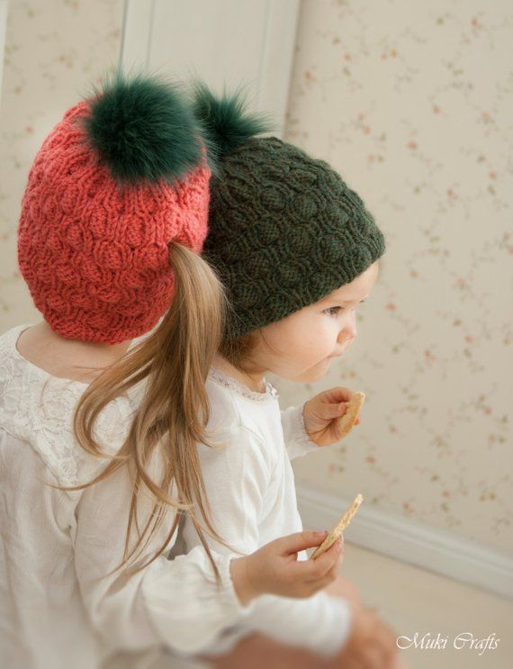 KNITTING PATTERN ponytail hat Abbey (toddler 6e354377443a