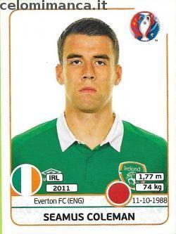 UEFA EURO 2016™ Official Sticker Album: Fronte Figurina n. 521 Seamus Coleman