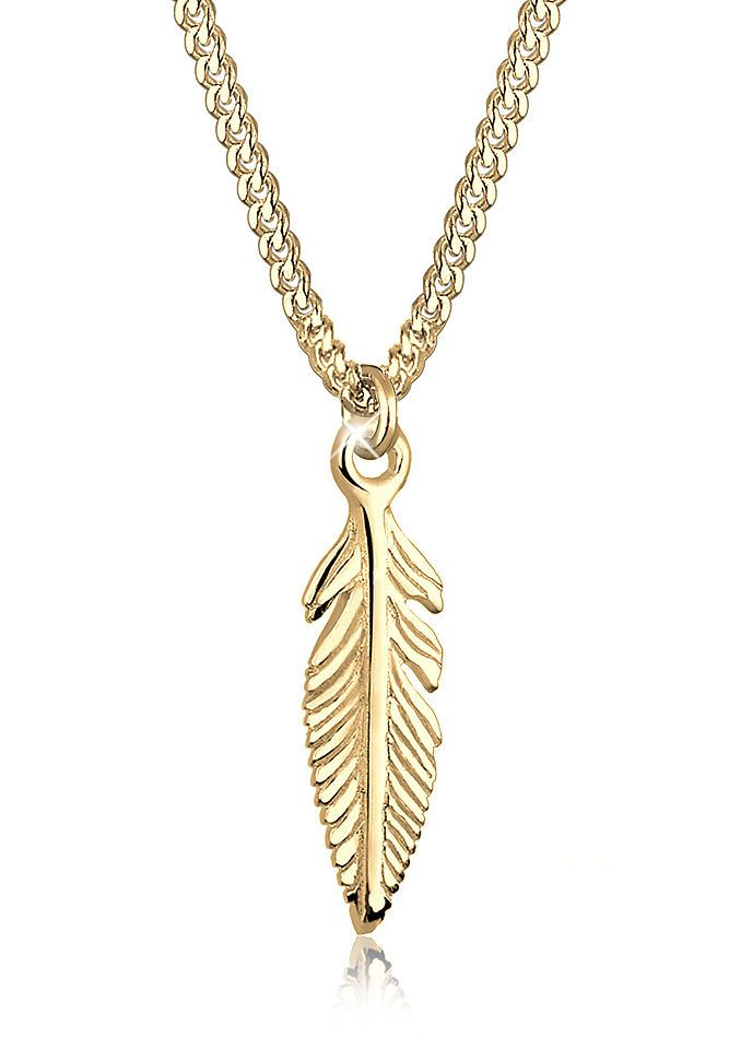 Elli Halskette »Feder 585 Gelbgold S0108242015« Jetzt bestellen unter: https://mode.ladendirekt.de/damen/schmuck/halsketten/goldketten/?uid=31f28857-31fe-5fb5-8baa-fbfef3e31082&utm_source=pinterest&utm_medium=pin&utm_campaign=boards #goldketten #schmuck #halsschmuck #halsketten