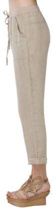 Maxstudio Max Studio Linen Drawstring Pants - Shop for women's Pants - KHAKI Pants