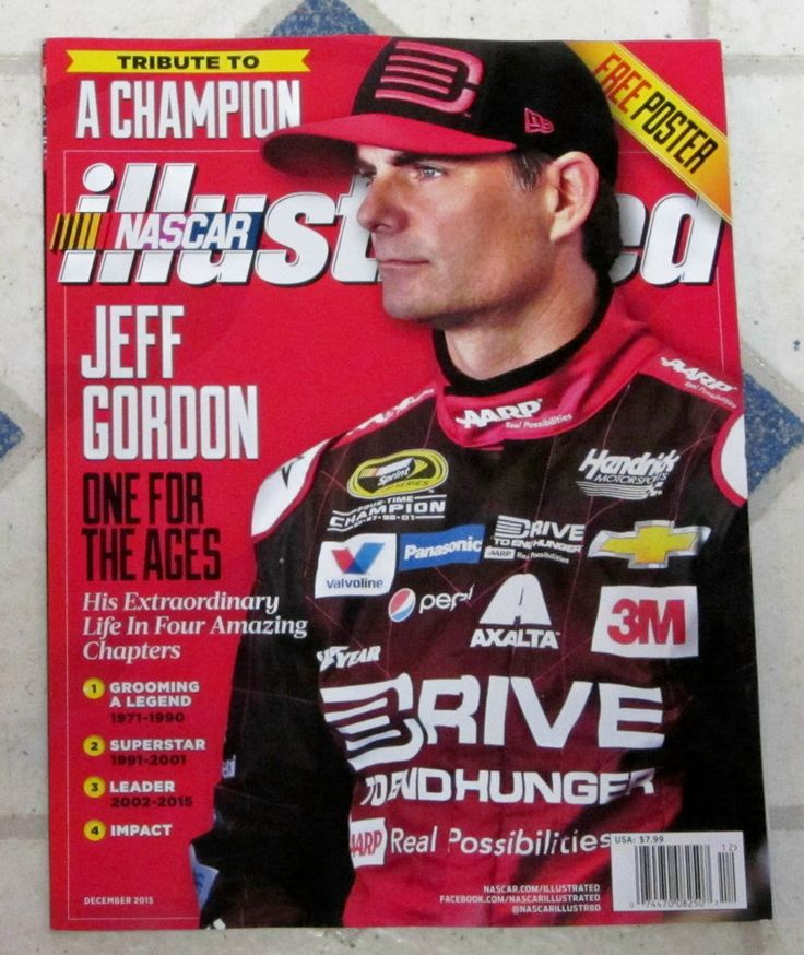 NASCAR Illustrated December 2015 JEFF GORDON Tribute To A CHAMPION + Free POSTER