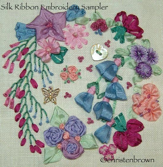Best images about silk ribbon sampler on pinterest