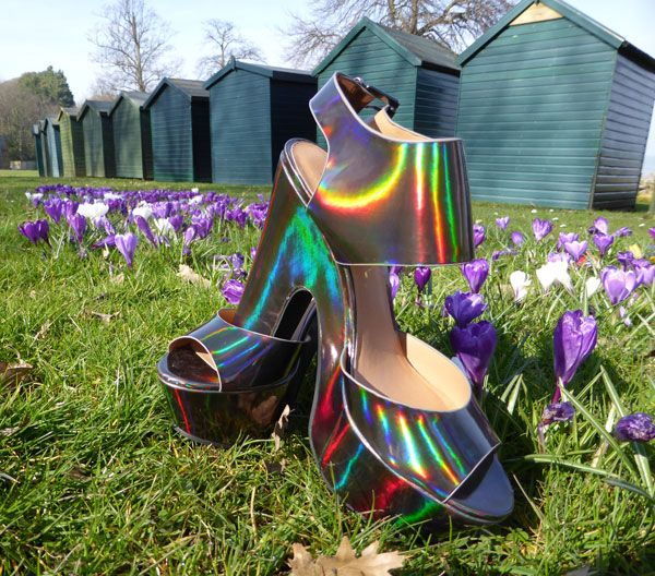 Holographic platforms from Bank Fashion. Find out more at http://wightcatwalk.co.uk/the-future-is-now/