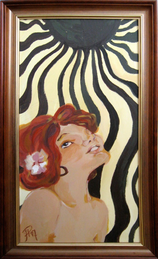Valoon, To the Light 2007  30 x 60 cm  akryyli / acrylics  Inspired by Art Nouveau