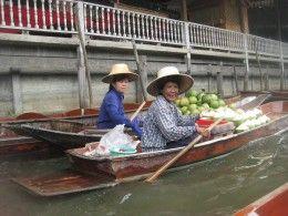 Floating market outside of Bangkok