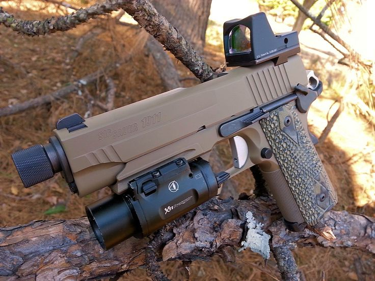 SIG 1911 with Trijicon RMR and Insight XTI Procyon