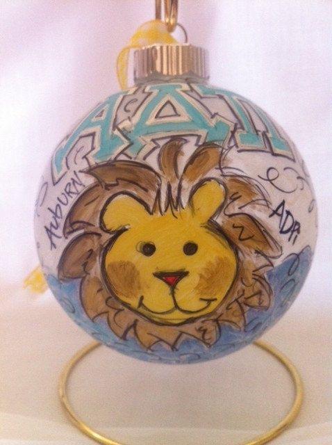 ADPi Sorority Ornament. So cute to give a sister before Christmas break!
