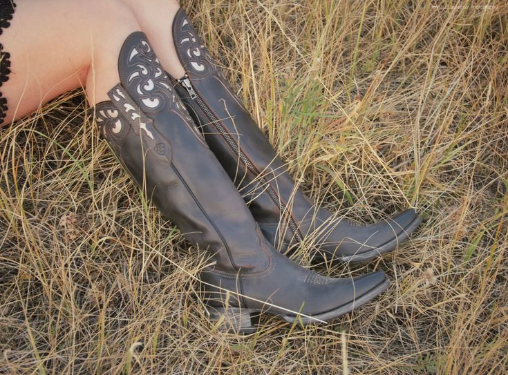 Ariat Hacienda Boots with a Skirt