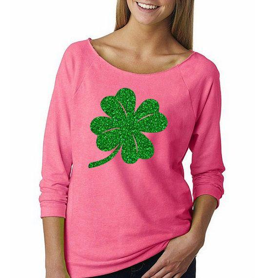 GLITTER Saint Patrick's Day Shirt Green Glitter Shirt by HimAndGem