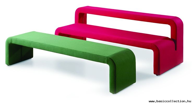 Basic Collection, Moby #moby #design #upholstery #green #bench #red #basiccollection #furniture