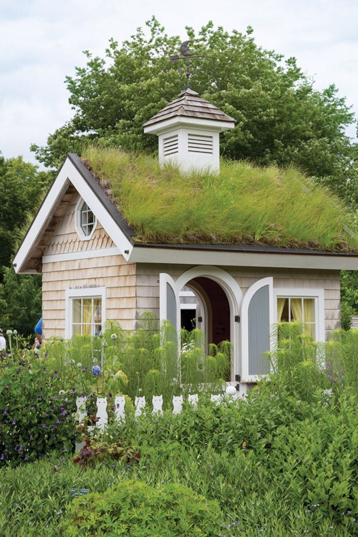 exquisite home and garden showplace. One of the garden sheds in Bibby and Harold Alfond Children s Garden  features a grass 66 best Gardens images on Pinterest Victoria magazine Backyard