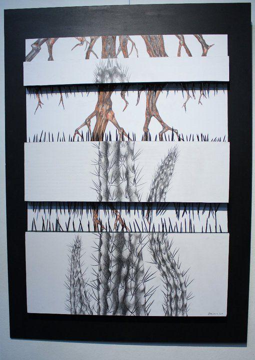 Caldén y cactus- Ana Belmonte