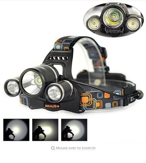 5000 Lumens LED Head Light 4 Modes Headlamp Lantern Camping Hunting Flashlight #Boruit