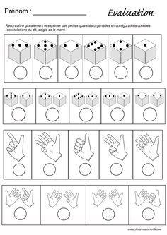 Evaluation maths en maternelle : constellations et doigts de la main