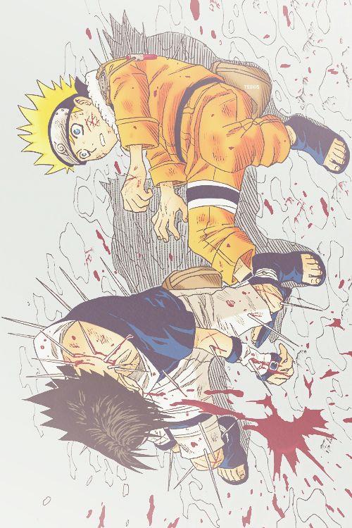 Sasuke saves Naruto