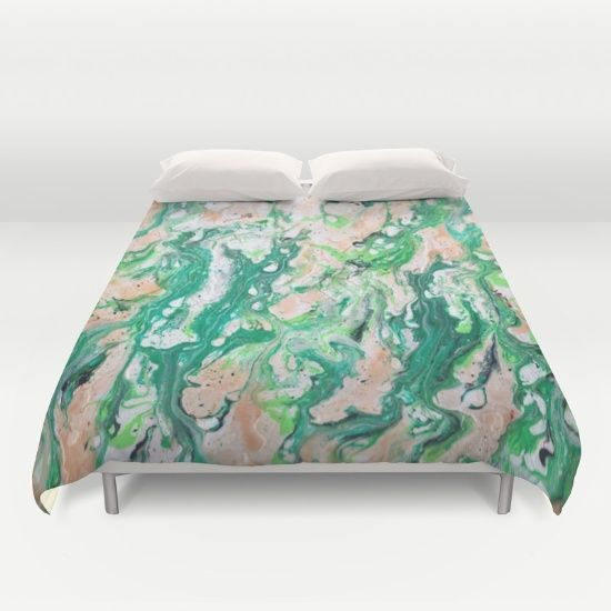 Buy ultra soft microfiber Duvet Covers featuring Moss Agate  by Monika Jean. Hand sewn and meticulously crafted, these lightweight Duvet Cover vividly feature your favorite designs with a soft white reverse side.