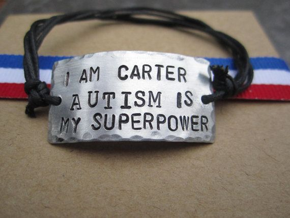 Autism bracelet  #autism #asd I don't know if I could get him to wear it.