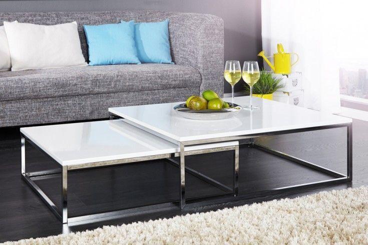 Tablett Tisch Cupid Mit Glasplatte Couchtisch Modern Couchtisch Weiss Wohnzimmer Tisch Weiss