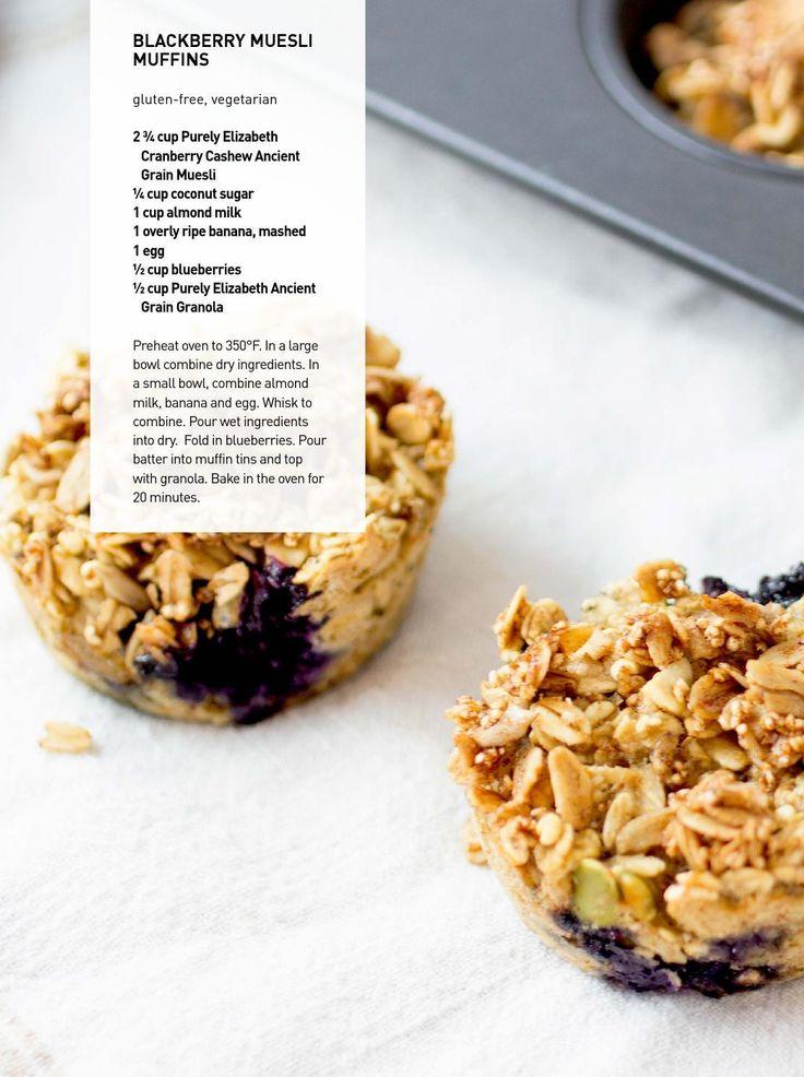 A week of breakfasts: Blackberry Muesli Muffins #recipe | purely elizabeth