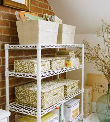 12 Months of Storage Projects: Basements Storage, Organizations Ideas, Storage Rooms, Metals Shelves, Storage Plans, Offices Storage, Storage Ideas, Home Offices, Months By Months Storage